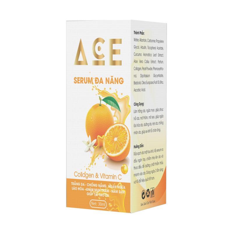 Serum siêu chấm mụn , dưỡng trắng mờ nám ACE , vitamin C  (30ml) - Công ty Kim Ngân giá rẻ