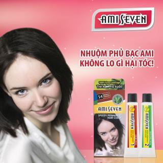 Nhuộm phủ bạc dược thảo Ami Seven Speedy Permanent Hair Color (60g 60g) nhanh 7 phút màu S4 (Nâu hạt dẻ) - Hàn Quốc thumbnail