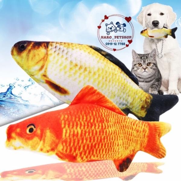 Đồ chơi cá nhồi bông cho mèo - đồ chơi cho chó mèo, đa dạng kích cỡ, chất lượng đảm bảo và cam kết hàng như mô tả