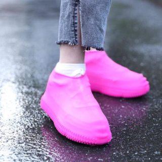 (LOẠI CAO CẤP) 01 đôi Bọc Giày Silicon Không Thấm Nước Có Thể Tái Sử Dụng Bọc Giày Đi Bộ Chống Mưa Chống Trượt 5