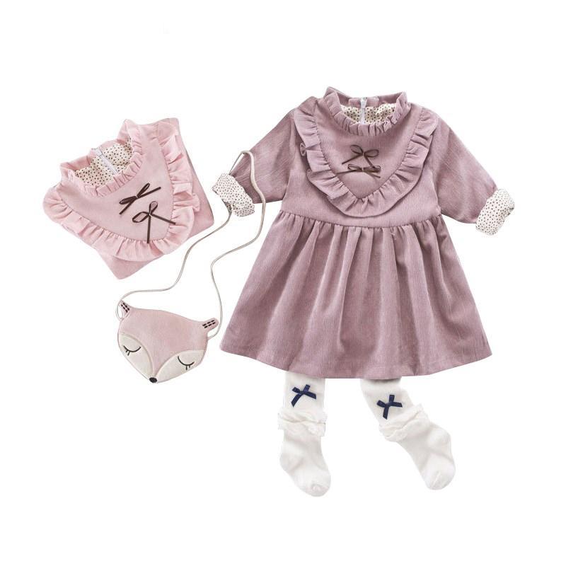 Váy Cổ Tàu Bèo Nhún Cho Bé - VK1, xinh xắn, dễ thương