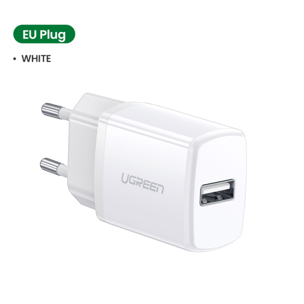 UGREEN 10.5W Universal USB Charger White Travel Wall Charger Adapter Smart Mobile Phone Charger for iPhone Samsung Xiaomi iPad Tablets
