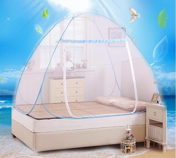 Màn chụp tự bung chống muỗi siêu bền, màn chống muỗi không đáy 1m8 x 2m cao cấp, bảo hành...