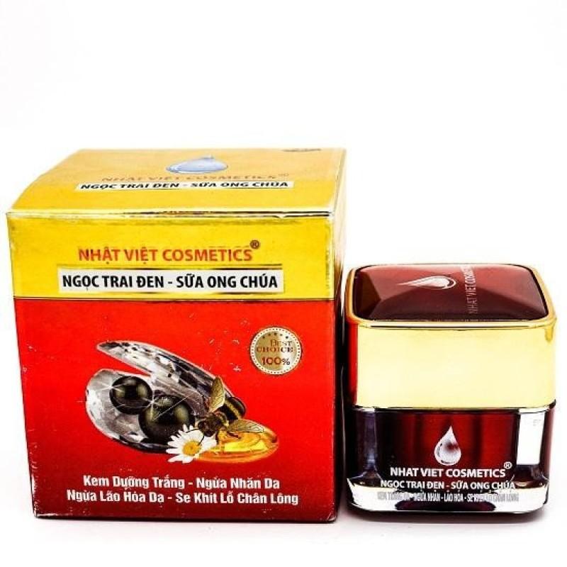 Kem Nhật Việt V14 Siêu Trắng Da Mặt, Se Khít Lỗ Chân Lông, Ngọc Trai Đen, Sữa Ong Chúa (20g) - Mỹ Phẩm Kim Ngân