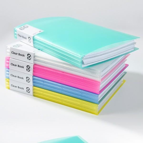 DecorMe Bìa kẹp tài liệu khổ A4 file kẹp nhiều ngăn tiện lợi cho học sinh, văn phòng phẩm Clear Book
