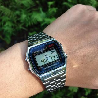 Đồng hồ điện tử UNISEX A159 Casio dây thép huyền thoại, phong cách trẻ trung, năng động - đồng hồ - đồng hồ thời trang - đồng hồ phong cách thumbnail