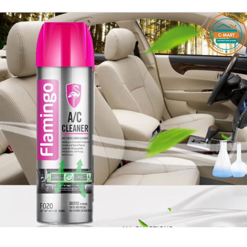 [ SALE OFF] Bình xịt vệ sinh điều hòa ô tô, điều hòa gia đình Flamingo