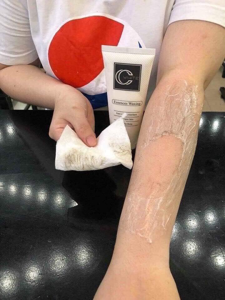 Tẩy lông CC White 100ml - tẩy lông nách, chân, tay cam kết không đau, không rát nhập khẩu
