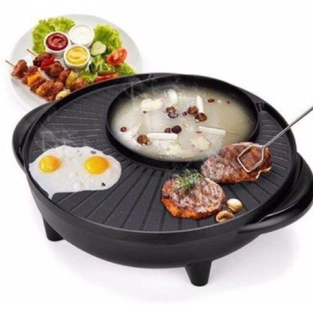Bếp Lẩu Nướng Điện 2 Trong 1 Tiện Dụng, Bếp Lẩu Điện Kèm Bếp Nướng Cao Cấp Hàn Quốc, Bếp Nướng Tích Hợp