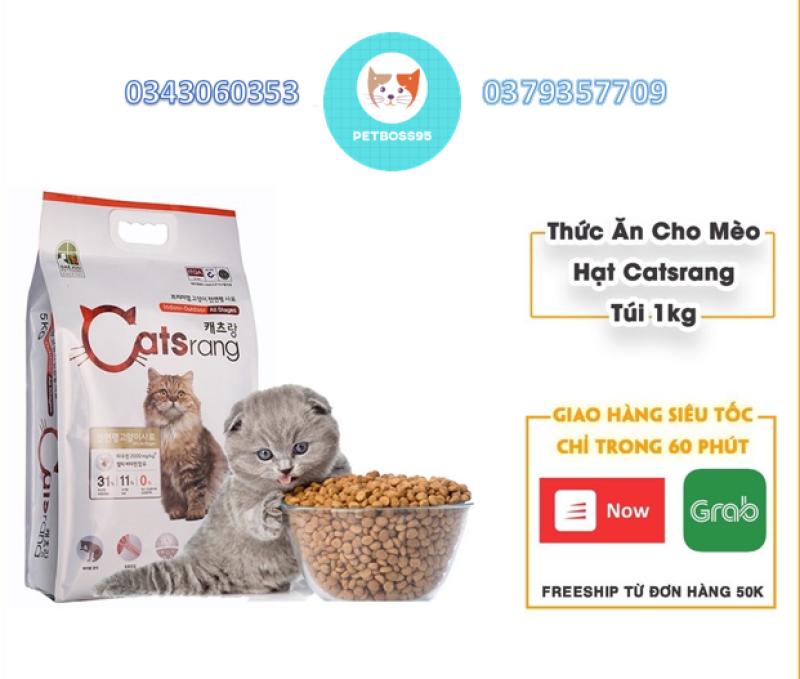 Thức ăn hạt cho mèo HẠT CATSRANG Hàn Quốc - Túi 0.5-1kg hạt Catsrang