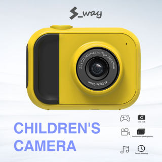 Camera Thời Trang S-way 1080P Dễ Thương Cho Trẻ Em Máy Quay Video Bền Tiện Dụng Sạc USB, Camera Zoom 4x Quà Tặng Cho Trẻ Em