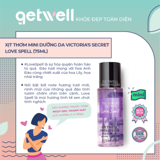 [HCM]Xịt thơm mini Victorias Secret Fragrance Mist Love Spell (75ml) thumbnail
