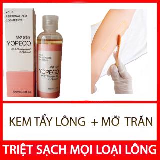 combo kem tẩy lông và Mỡ Trăn Yopeco triệt lông chân,lông tay,lông nách,đủ các loại lông trắng da hiệu quả 100ml 100% nguyên chất, không chất bảo quản B orial Korea thumbnail