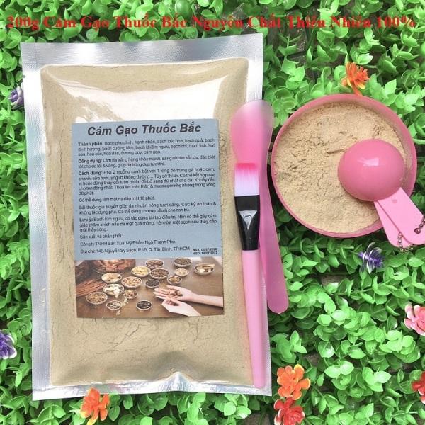 Bột Cám gạo Thu-ốc bắc 100g-200g nguyên chất thiên nhiên 100% dùng để đắp mặt đa công dụng tốt nhất