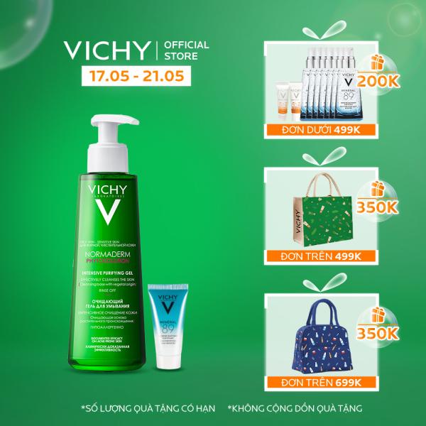 Bộ Gel rửa mặt làm sạch sâu, giảm bã nhờn và se khít lỗ chân lông cho da dầu mụn VICHY Normaderm Phytosolution Gel