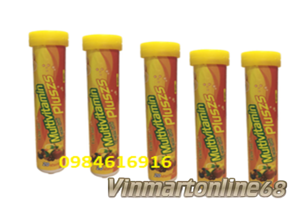 5 Tuýp Viên Sủi Multivitamin Pluszs - Bổ Sung Vitamin C - Tăng Sức Bền Thành Mạch Máu - Mỗi Tuýp 20 viên
