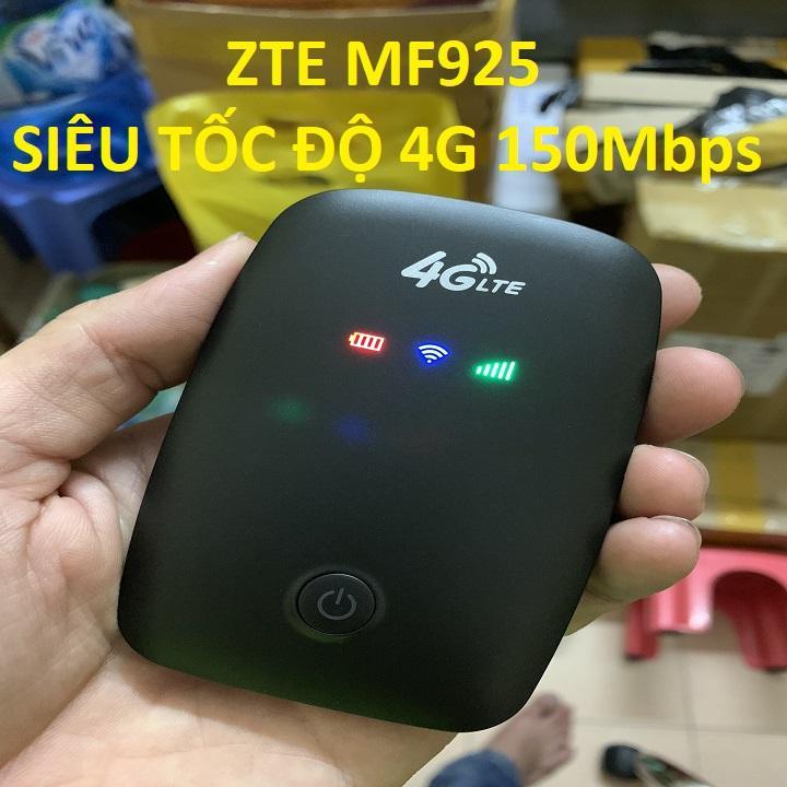 Hot Deal Khi Mua CHẮC NHIỀU NGƯỜI CẦN MUA Mang Theo Du Lịch Trong Nước Và Quốc Tế- Củ Phát Wifi Di động 4G LTE ZTE MF925 Công Suất Lớn LEVER ONE- Chất Lượng 5 Sao