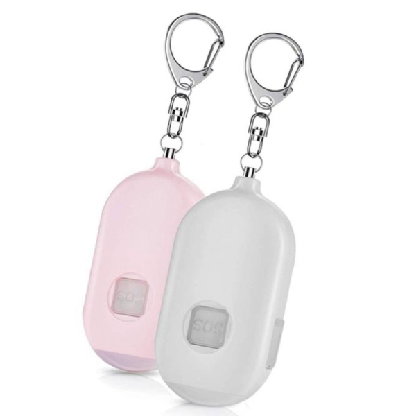 2 Pcs Personal Keychain Alarm Siren -130 DB Loud Siren Song with LED Light Emergency Safety Alarm for Woman,Girls,Kids