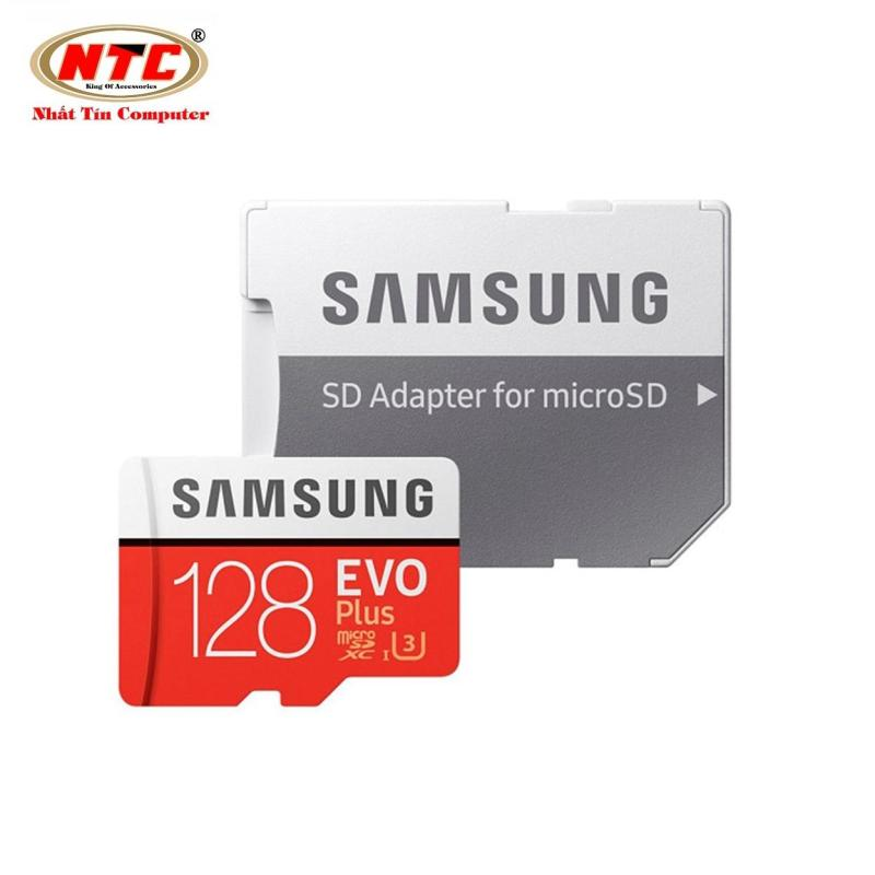 Thẻ nhớ MicroSDXC Samsung Evo Plus 128GB UHS-I U3 4K 100MB/s kèm Adapter - box Hoa (Đỏ)