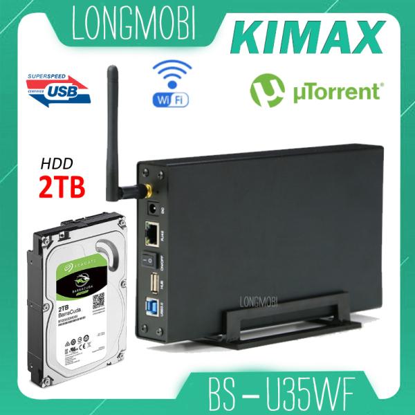 Bảng giá Kimax U35WF Ổ cứng mạng Nas Wifi, không cần Format HDD Download Torren, Tích Hợp AccessPoint Moden 2021 Phong Vũ