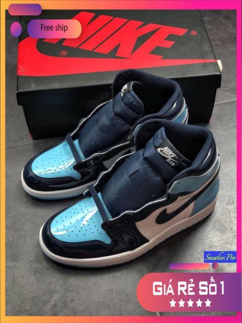 (ƯU ĐÃI LỚN SALE CỰC SỐC + FULL BOX) Giày thể thao nam nữ Air Jordan 1 Retro High UNC Patent su hướng thời trang giá rẻ