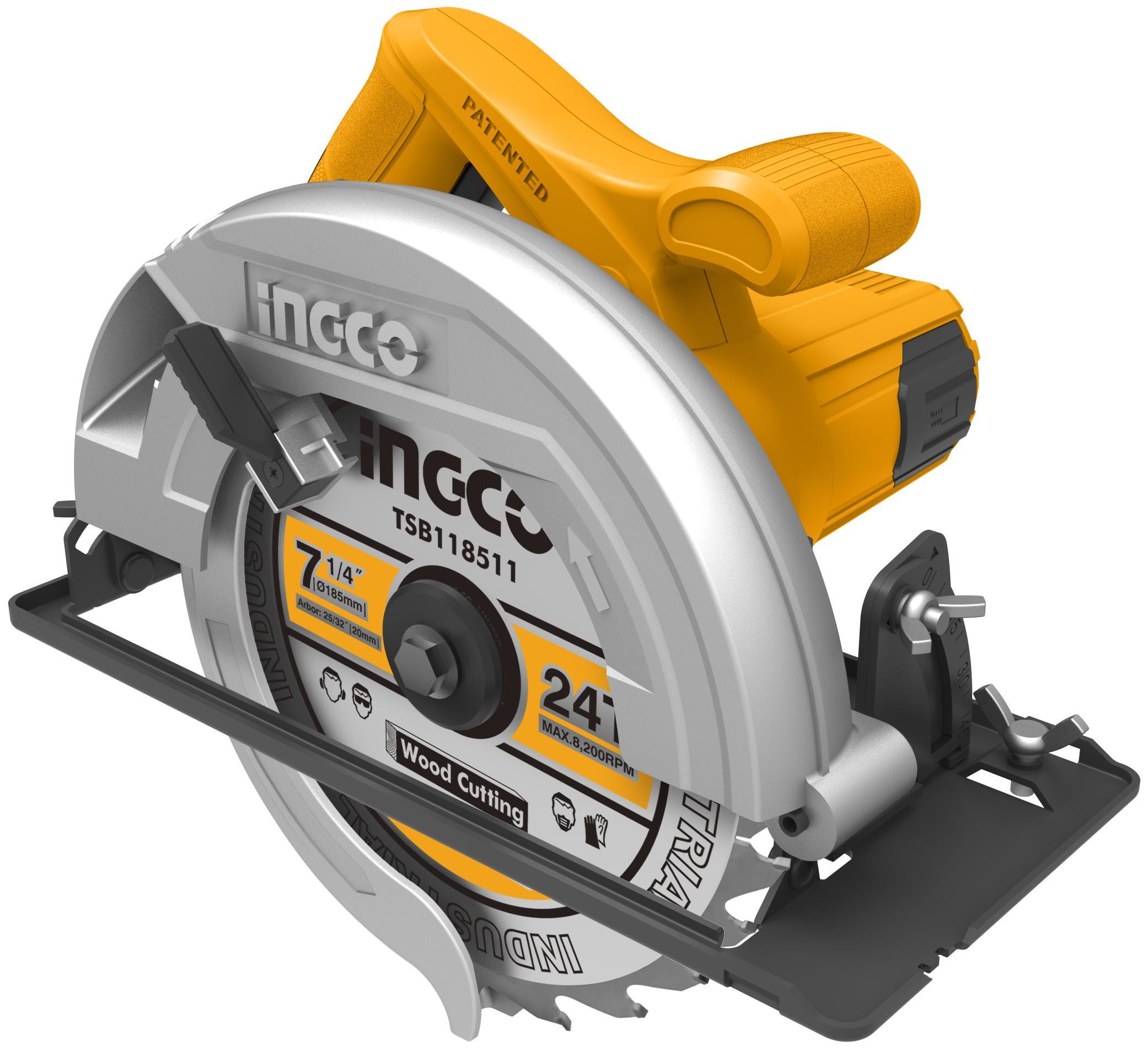 185mm Máy cưa đĩa tròn 1200W INGCO CS18518
