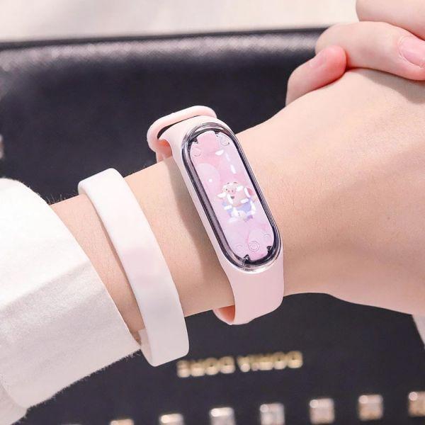 Nơi bán HUXIAN0 Các cô gái Không thấm nước Du lịch Những cậu bé DẪN ĐẾN Sinh viên Đồng hồ đeo tay hoạt hình Đồng hồ điện tử trẻ em Silicone Đồng hồ thể thao kỹ thuật số