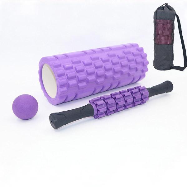 Bảng giá Bộ Dụng Cụ Tập Yoga Cao Cấp Gồm Con Lăn, Bóng Fascia Đơn, Gậy 6 Bánh Massage Cơ Bắp Toàn Thân - - SHOP AFAST VN