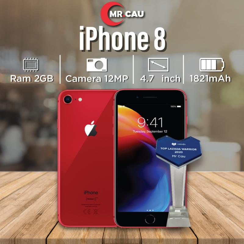 Điện thoại Apple iPhone 8 64GB QUỐC TẾ 2GB RAM Hexa-core A11 Bionic Card Màn Hình 3 Nhân Màn Hình FULL HD Retina 4.7 MR CAU inches 2 Camera Sau 12MP Selfie Cam 7MP Cao C