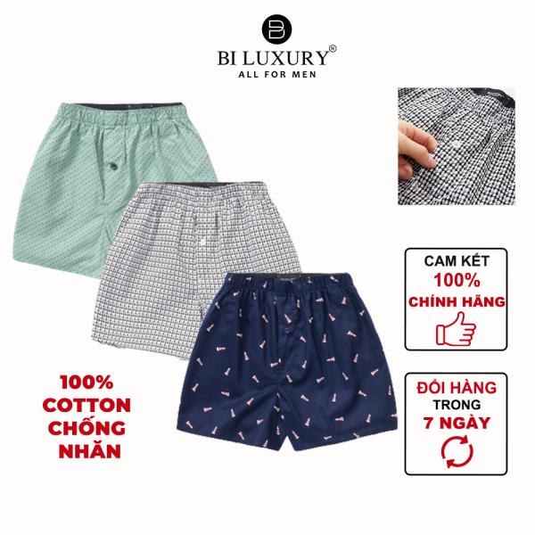 Nơi bán BILUXURY - Combo quần ngủ nam boxer cotton thoáng mát thun co giãn màu bất kỳ