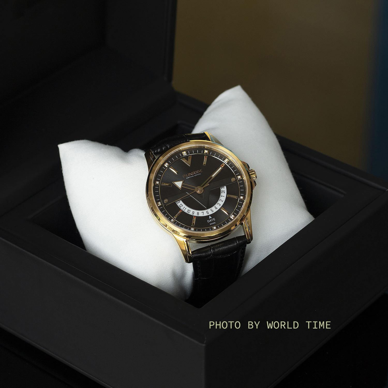 Nơi bán Đồng hồ Nam Sunrise DM1116SWA [FULL BOX , thẻ bảo hành hãng] Kính Sapphire chống xước , chống nước , Dây Da Cao Cấp