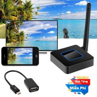 ( Quà tặng Cáp OTG cho điện thoại Android ) Thiết bị HDMI không dây Dongle Q4 cao cấp - Wifi Display Dongle Q4 - HDMI Dongle Q4 hỗ trợ HDMI và AV trình chiếu từ Smartphone lên Tivi thumbnail