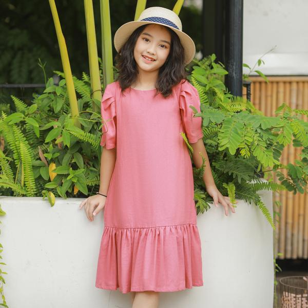 Giá bán Váy BG dáng suông đuôi cá màu hồng đất Lovekids