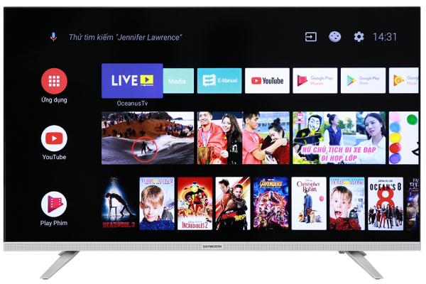 Bảng giá Android Tivi Skyworth 32 inch 32E6 - Trợ lý ảo Google Assistant, Tìm kiếm bằng giọng nói (có hỗ trợ tiếng Việt),Chiếu màn hình điện thoại lên tivi:Screen Mirroring, Chromecast