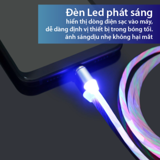 Cáp sạc chuẩn kết nối phát sáng đầu nam châm hút đầu Lighning( gồm 1 dây và 1 đầu) 5