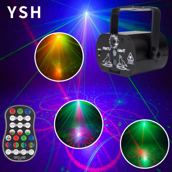 Đèn LED xoay vũ trường - Đèn laser sân khấu cảm ứng âm thanh cao cấp