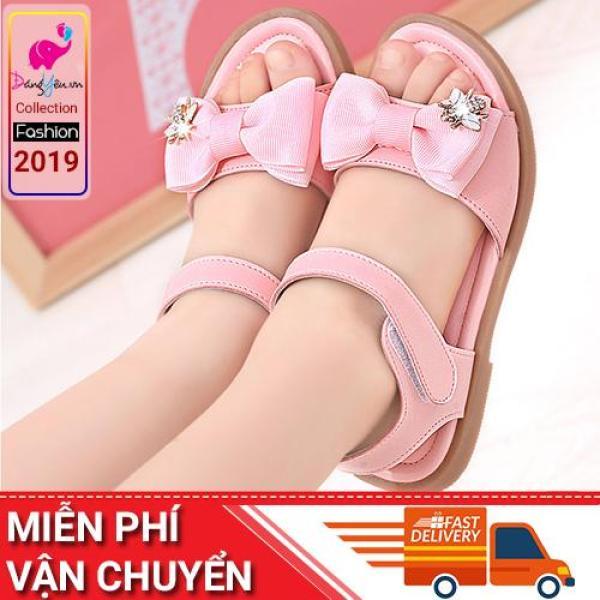 Giá bán Sandal cho bé gái thắt nơ theo phong cách Hàn Quốc- 11SD127