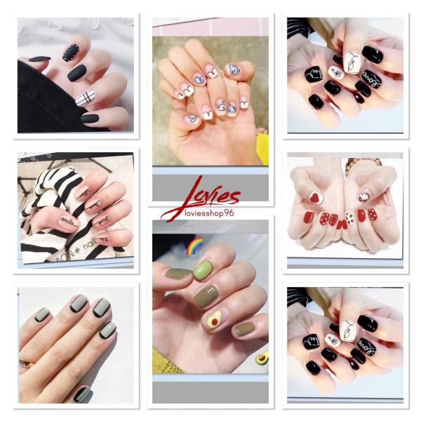 [Mẫu mới]  Miếng dán móng tay Hàn Quốc xinh xắn loviesshop96 giá rẻ