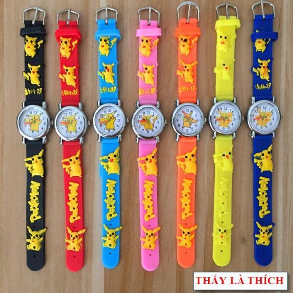 Giá bán Đồng hồ bé gái Thấy Là Thích họa tiết 3d Pokemon - DH2019100012020039