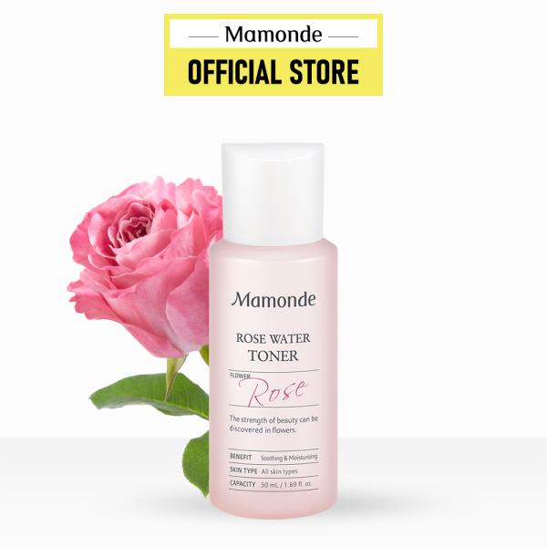 Nước hoa hồng cung cấp độ ẩm Mamonde Rose Water Toner 50ml cao cấp