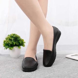 Giày nhựa nữ giả da đi mưa tiện lợi thumbnail