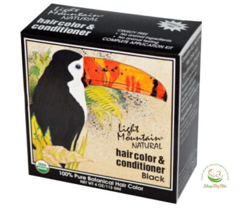 [USDA] Bột nhuộm tóc henna hữu cơ Light Mountain Natural.. cao cấp
