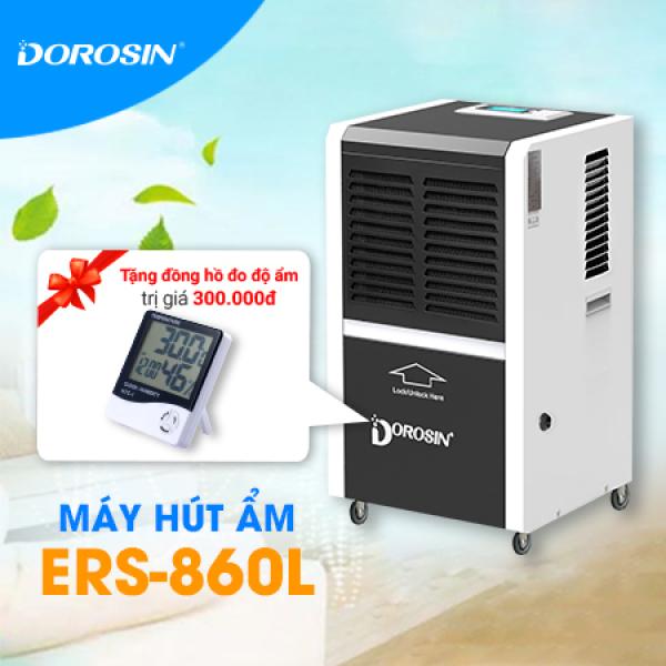 Máy hút ẩm công nghiệp Dorosin ERS-860L công suất hút ẩm 60lít/ngày Tặng Đồng Hồ Đo Nhiệt Độ, Độ Ẩm HTC-01