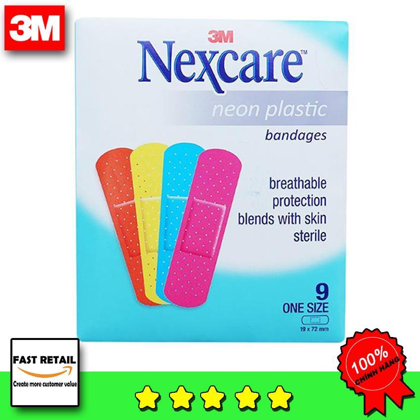 [SALE ] Hộp 90 Băng Cá Nhân Nexcare Màu Neon nhập khẩu