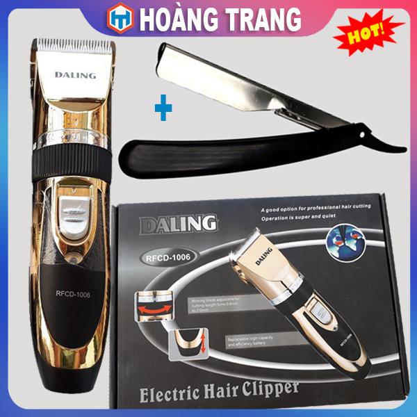 Bộ tông đơ cắt tóc Daling 1006 không dây cao cấp công suất 12W, tăng đơ cắt tóc gia đình, cắt tóc cho bé chuyên nghiệp