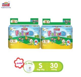 Combo 2 bịch Tã quần Goo.N Friend gói đại size S30 miếng dành cho bé từ 4 -8kg thumbnail