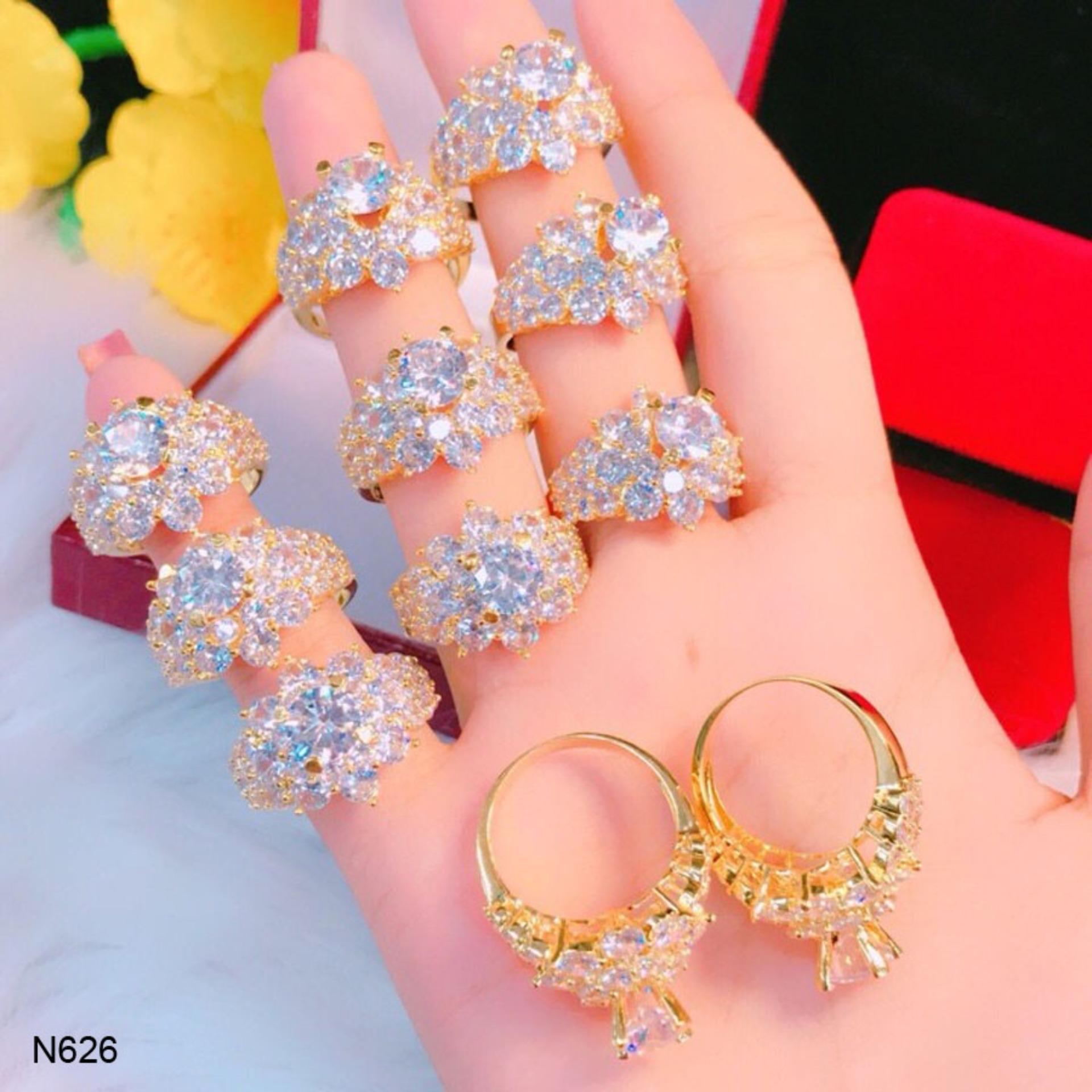 Nhẫn Nữ đính đá Sang Trọng Thiết Kế Cao Cấp Orin N626 Giá Ưu Đãi Không Thể Bỏ Lỡ