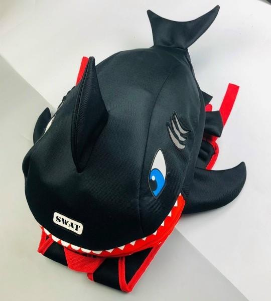 Balo cá mập màu đen siêu cute