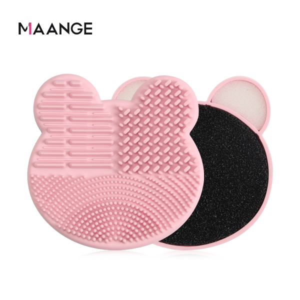 MAANGE Makeup Brush Cleaning Tool Sponge  Eye Shadow Brush Cleaning Box Cleaning Pad