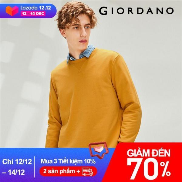 Áo len nam tay dài đơn giản màu trơn trẻ trung chất liệu mềm dày dặn GiordanoFREESHIP 01029791